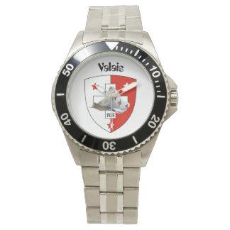 Uhr mit Schweizer-Entwurf Valais / Wallis