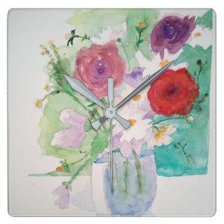 Uhr romantische Blume Aquarell