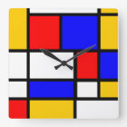 Uhr Stil Mondrian