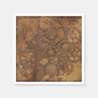 Uhr übersetzt Steampunk Kunst Papierserviette