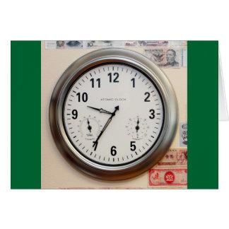 Uhr und Währung Karte