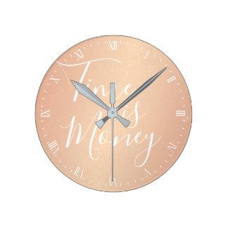 Uhr - Zeit ist Geld-Rosen-Gold