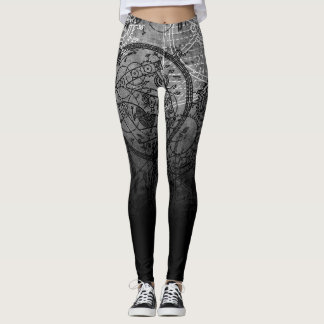 Uhrwerk-Collagen-Grau Leggings