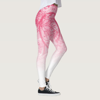 Uhrwerk-Collagen-Rosa Leggings