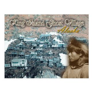 Ukivok Stelze-Dorf, König Island, Alaska Postkarte