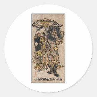 Ukiyo-e bärtiger Mann Stickers