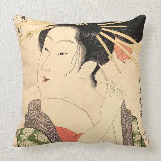 Ukiyo-e Japanermädchen Kissen