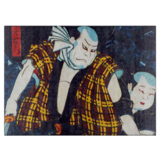 Ukiyo-e japanische Malerei von zwei Kabuki