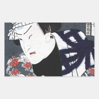 ukiyo-e Samurais Rechteckiger Aufkleber