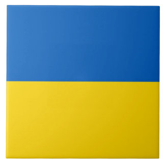 Ukraine-Flagge auf Fliese