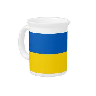 Ukraine-Flagge auf Krug