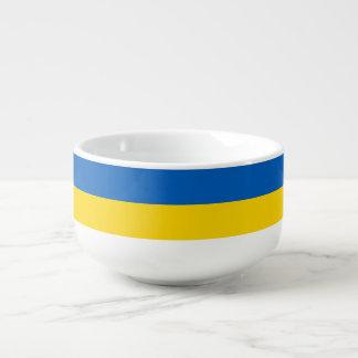 Ukraine-Flagge Große Suppentasse