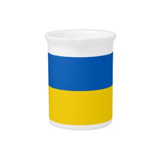 Ukraine-Flagge Krug