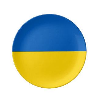 Ukraine-Flagge Teller Aus Porzellan