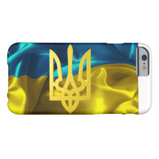 Ukraine Flagge und Tryzub iPhone Fall Barely There iPhone 6 Hülle