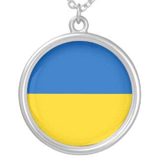 Ukraine-Flagge Versilberte Kette