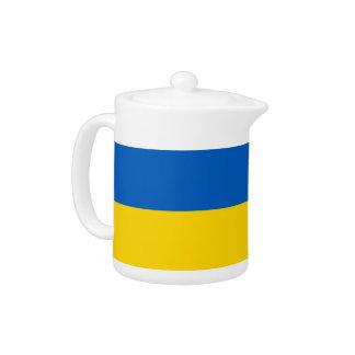 Ukraine-Flaggen-Teekanne