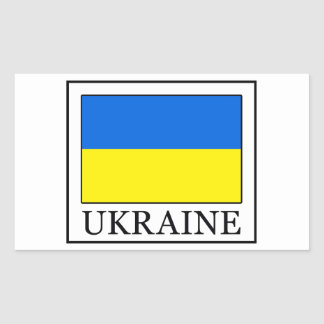 Ukraine Rechteckiger Aufkleber