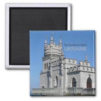 Ukraine-Reise-Andenken-Foto-Magnet schluckt Nest Quadratischer Magnet