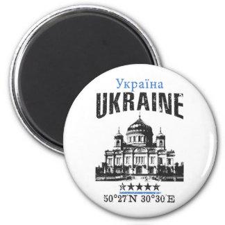 Ukraine Runder Magnet 5,7 Cm