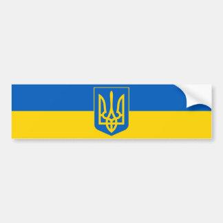 Ukraine Trident auf Gelb und blauer Autoaufkleber