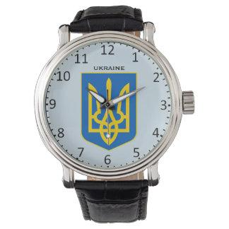 Ukraine-Wappen-Gewohnheits-Armbanduhr Uhr