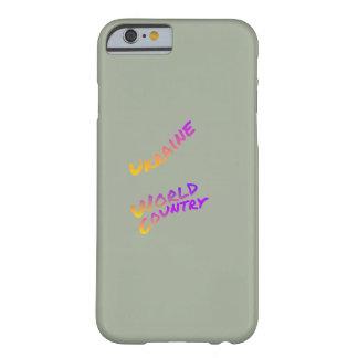 Ukraine-Weltland, bunte Textkunst Barely There iPhone 6 Hülle