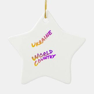Ukraine-Weltland, bunte Textkunst Keramik Ornament