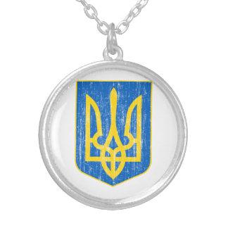 Ukraine wenig Wappen Versilberte Kette
