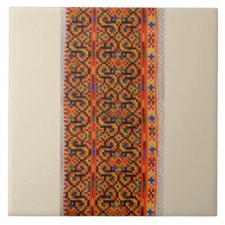 Ukrainer Hutsul Vyshyvanka Rushnyk Stickerei Keramikfliese
