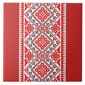 Ukrainer Vyshyvanka Rot-Stickerei Keramikfliese