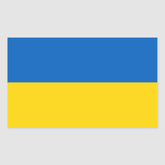 Ukrainische Flagge Rechteckiger Aufkleber
