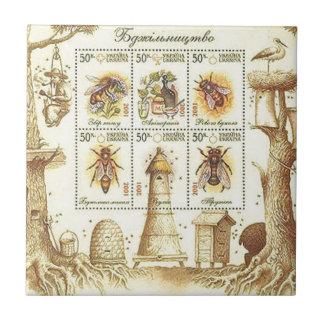 Ukrainische Imkerei-Briefmarke Fliese