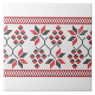 Ukrainische Weinstock Vyshyvanka Rushnyk Stickerei Keramikfliese