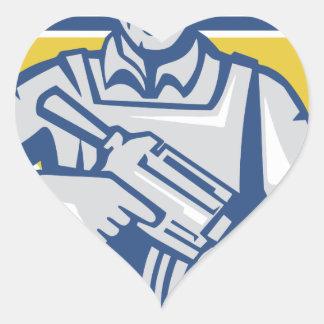Ukrainischer Armee-Junta-Power Herz-Aufkleber