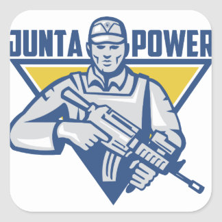 Ukrainischer Armee-Junta-Power Quadratischer Aufkleber