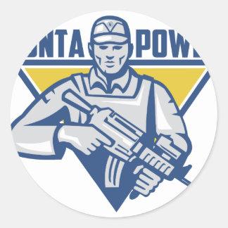 Ukrainischer Armee-Junta-Power Runder Aufkleber
