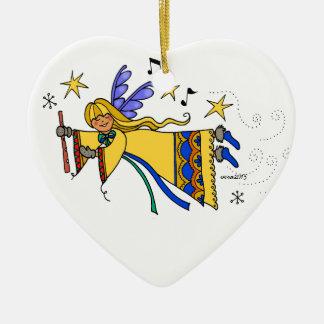 Ukrainischer Engel Volkskunst der frohen Keramik Ornament
