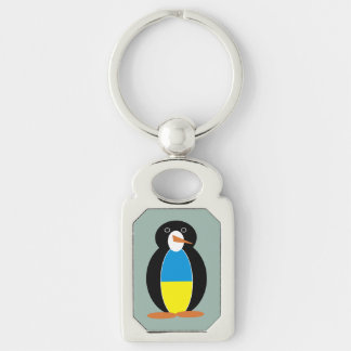 Ukrainischer Pinguin -- українськийпінгвін Schlüsselanhänger