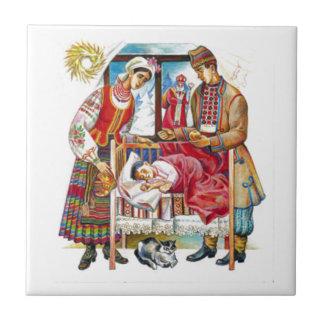 Ukrainischer Weihnachtstag Keramikfliese