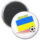 Ukrainisches Fußball-Team Runder Magnet 5,7 Cm