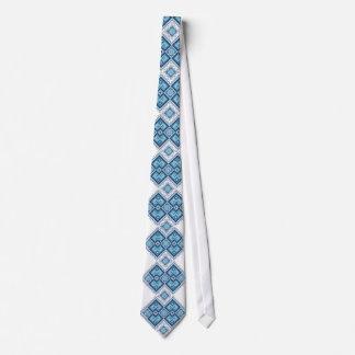 Ukrainisches Stickereiblau vyshyvanka Krawatte