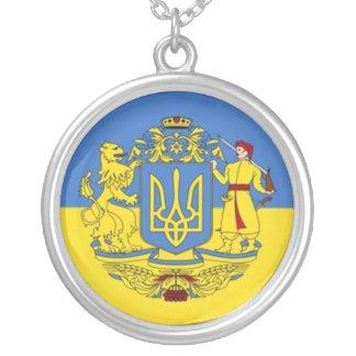 Ukrainisches Wappen Versilberte Kette