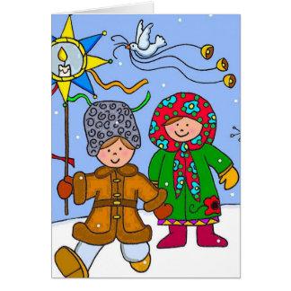 Ukrainisches Weihnachten Carollers Karte