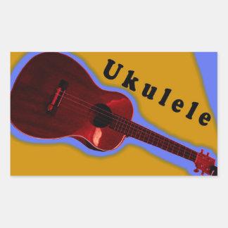 Ukulele-Aufkleber 1: Zeigen Sie Ihre Liebe des uke Rechteckiger Aufkleber