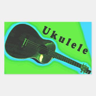 Ukulele-Aufkleber 2: Zeigen Sie Ihre Liebe des uke Rechteckiger Aufkleber