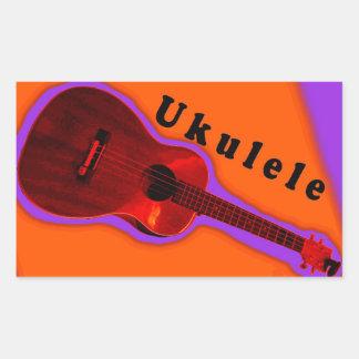 Ukulele-Aufkleber 4: Zeigen Sie Ihre Liebe des Rechteckiger Aufkleber