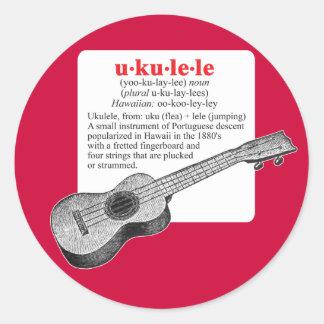 Ukulele-Definitions-Aufkleber