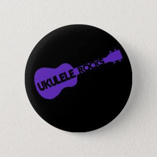 Ukulele-Felsen Runder Button 5,1 Cm