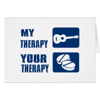 Ukulele ist meine Therapie Karte